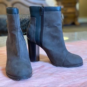 Juicy Couture Charcoal Livia Ankle Boots Sz 8.5